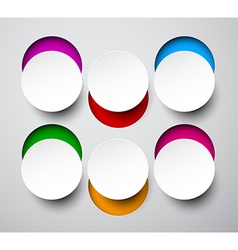 Paper white round notes vector