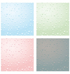 Set of raindrops vector