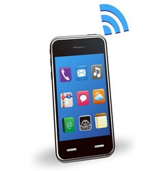 Smart phone with wireless vector