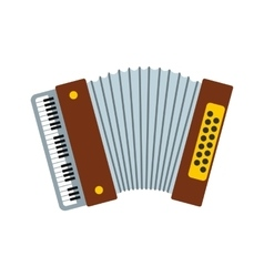 Retro accordion icon vector