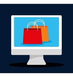 Flat design of shopping icon vector