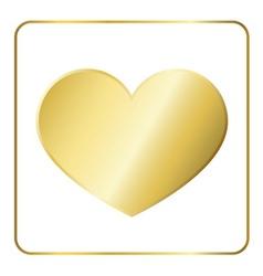 Gold heart metal vector