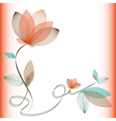 Abstract flower on a white background card vector image