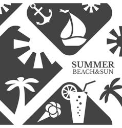Abstract summer menu beach vector