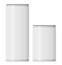 Aluminum cans for beer and soft drinks or energy vector