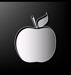 Apple sign gray 3d printed vector