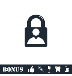 Authenticate icon flat vector image