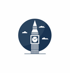 big ben tower icon english school logo concept vector image vector image