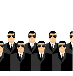 bodyguards in dark suits and dark glasses secret vector image vector image