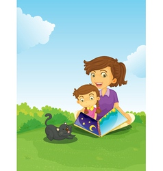 Book Reading vector image