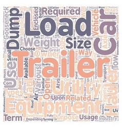 Car hauler dump trailers equipment trailer vector