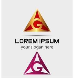 Corporate logo g letter company design vector