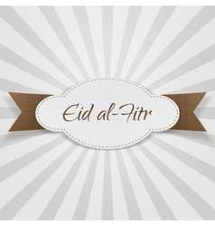 Eid al-fitr decorative paper badge vector