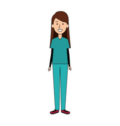 Female surgeon doctor avatar character vector