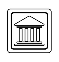 figure emblem shape bank icon vector image