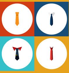 flat icon necktie set of style clothing necktie vector image