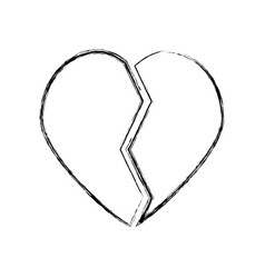 heart broken symbol vector image