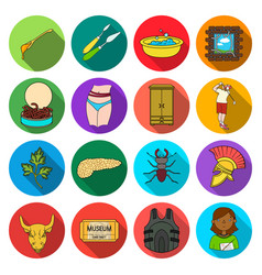 History army business and other web icon in flat vector