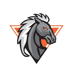 Horse Head Side Retro vector image