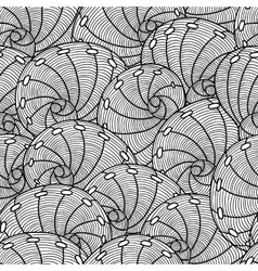 Marine seamless pattern with stylized seashells vector image