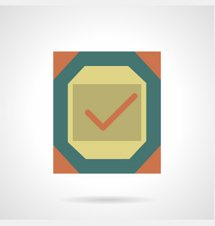 metal quality sign flat color icon vector image vector image