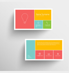 modern business card template with flat mobile vector image vector image
