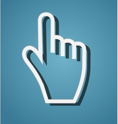 Mouse hand cursor vector image vector image