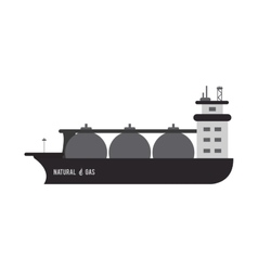 natural gas ship icon vector image
