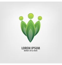 Organic logo design idea vector image