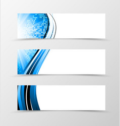 Set of header banner dynamic futuristic design vector image