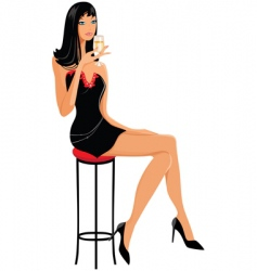 slim girl vector image