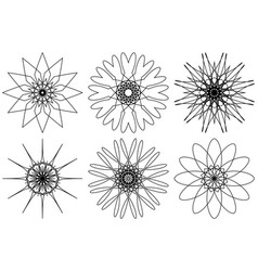 spirograph design elements isolated on white vector image