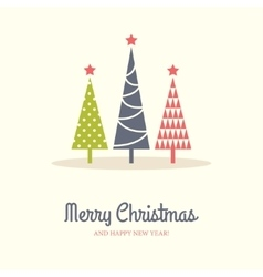 Three Christmas Trees vector image