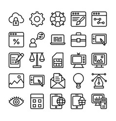 web design line icons 1 vector image vector image