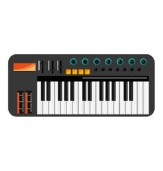 Music keyboard icon vector