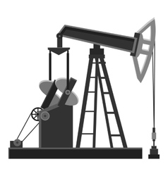 Oil rig icon gray monochrome style vector