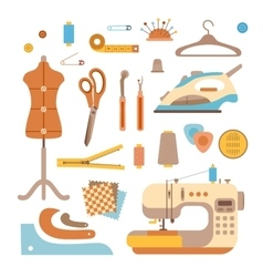 Sewing workshop concept vector