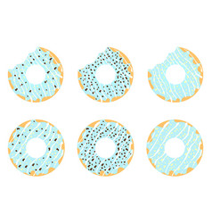 Set of donuts 2 vector