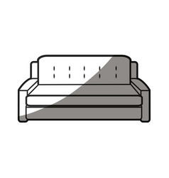 Sofa furniture decoration comfort line shadow vector