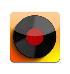 Old vinyl record icon on white background eps10 vector