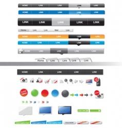 menu sets vector image