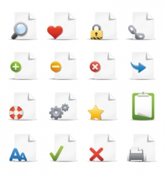Web pages icons vector