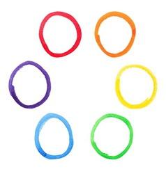 Colorful watercolor circles set vector