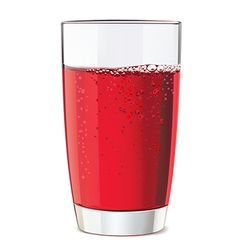 Glass of red juice vector