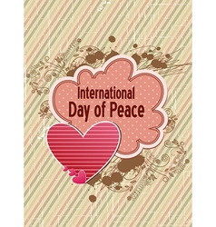 International day of peace with doodle frame vector