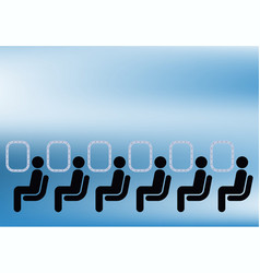 Airline passengers vector