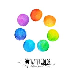 Colorful set isolated watercolor paint vector