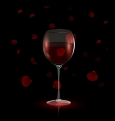 Petals and red wine vector