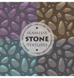 Stone textures set vector
