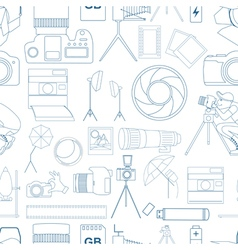 Photography seamless pattern with photo camera vector